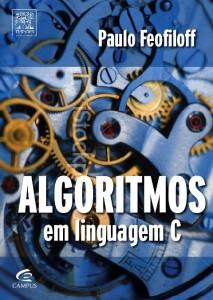"""Capa do livro """"Algoritmos em linguagem C"""""""